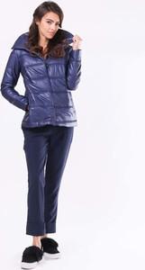 Niebieska kurtka Nommo krótka w stylu casual