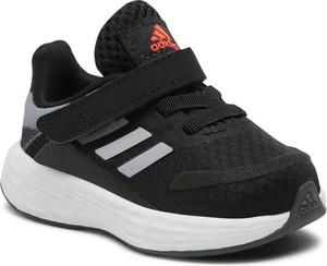 Czarne buty sportowe dziecięce Adidas dla chłopców na rzepy