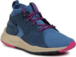 Niebieskie buty sportowe Columbia sznurowane