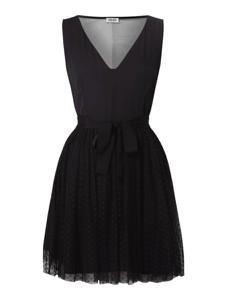 Czarna sukienka Liu-Jo z dekoltem w kształcie litery v bez rękawów rozkloszowana