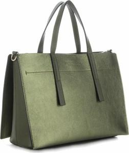 Zielona torebka VITTORIA GOTTI do ręki duża ze skóry