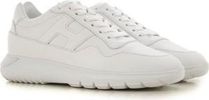 Buty sportowe Hogan sznurowane w młodzieżowym stylu z płaską podeszwą