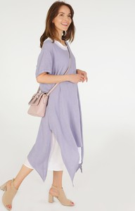 Sukienka Unisono midi z długim rękawem