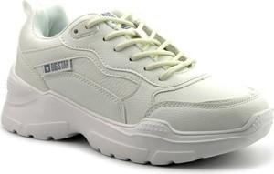 Buty sportowe Big Star sznurowane ze skóry ekologicznej