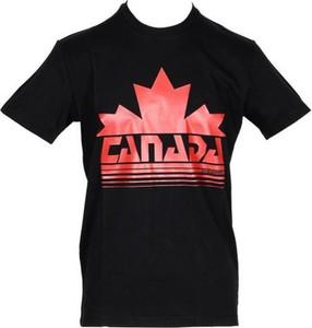 Czarny t-shirt Dsquared2 z krótkim rękawem