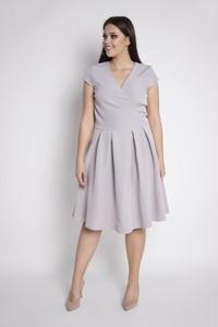 Sukienka Grandio z krótkim rękawem dla puszystych
