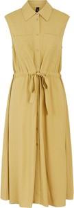 Żółta sukienka Y.A.S z dekoltem w kształcie litery v