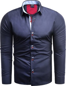 Granatowa koszula Risardi z długim rękawem