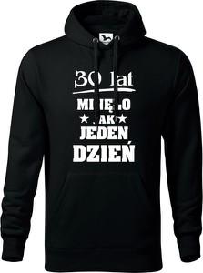 Czarna bluza TopKoszulki.pl z bawełny w młodzieżowym stylu