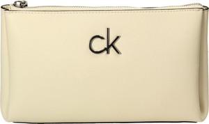 Torebka Calvin Klein w stylu glamour średnia ze skóry ekologicznej