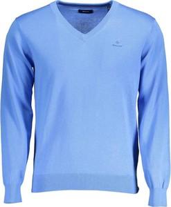Niebieski sweter Gant w stylu casual