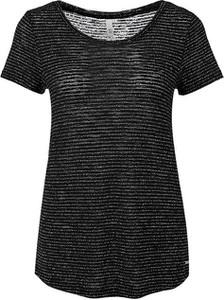 Czarny t-shirt Q/s Designed By - S.oliver w stylu casual