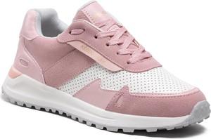 Różowe buty sportowe KEDDO sznurowane z płaską podeszwą