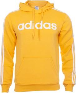Żółta bluza Adidas w sportowym stylu z bawełny
