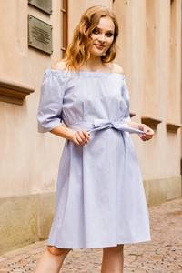 Sukienka KARKO midi rozkloszowana w stylu casual
