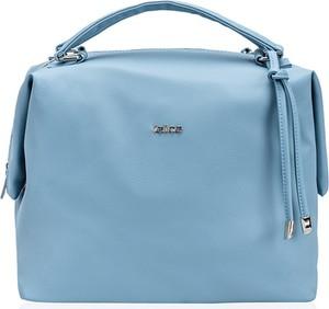 Niebieska torebka Felice ze skóry ekologicznej w stylu casual duża