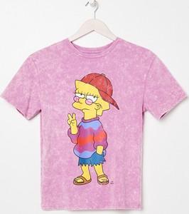 T-shirt Sinsay z krótkim rękawem z nadrukiem