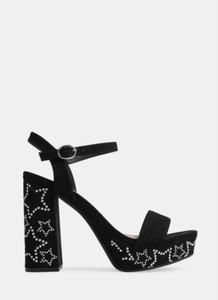 Czarne sandały deezee z klamrami