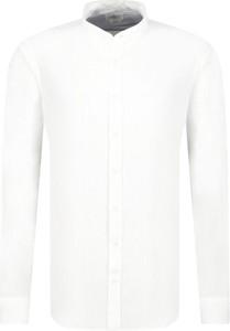 Koszula Hackett London z lnu z długim rękawem w stylu casual