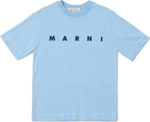 Koszulka dziecięca Marni dla chłopców z bawełny z krótkim rękawem