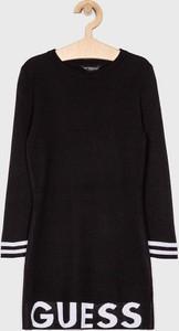 Czarna sukienka dziewczęca Guess Jeans z jeansu
