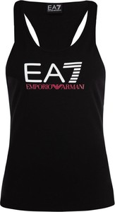 Czarny top EA7 Emporio Armani w stylu casual