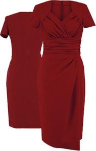 Sukienka Camill Fashion z krótkim rękawem midi