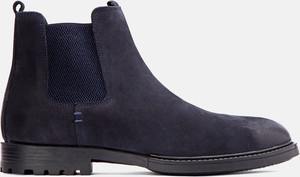 Granatowe buty zimowe Kazar