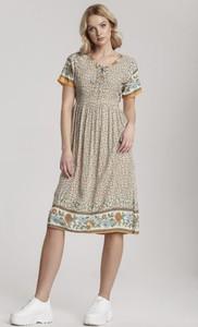 Sukienka Renee z krótkim rękawem midi