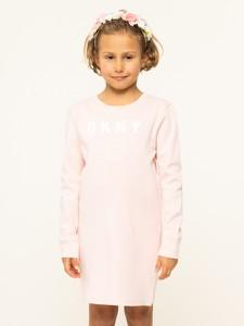 Różowa sukienka dziewczęca DKNY