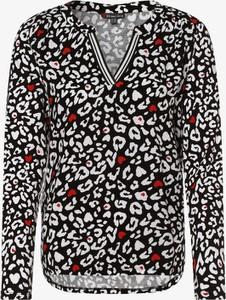 Bluzka STREET ONE z dekoltem w kształcie litery v w stylu casual z długim rękawem