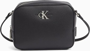 Czarna torebka Calvin Klein matowa na ramię