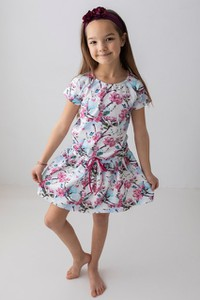 Sukienka dziewczęca Myprincess / Lily Grey w kwiatki z tkaniny