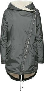 Szary płaszcz bonprix rainbow bez wzorów