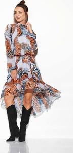 Sukienka Lemoniade asymetryczna z długim rękawem