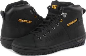 Czarne buty sportowe Caterpillar ze skóry