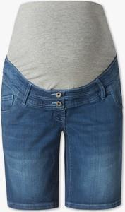 Niebieskie szorty The Denim z bawełny w młodzieżowym stylu