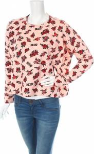 Różowa bluzka Ktz z długim rękawem z okrągłym dekoltem