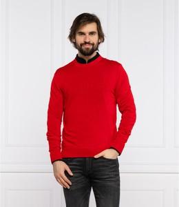 Czerwony sweter Armani Exchange z wełny