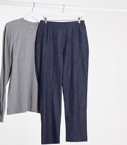 Niebieskie chinosy Karl Lagerfeld z jeansu