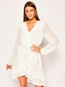 Sukienka Silvian Heach z dekoltem w kształcie litery v z długim rękawem mini