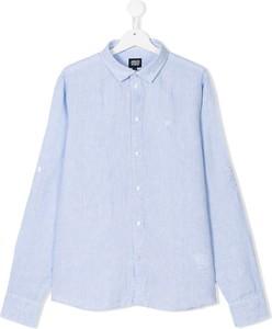 Błękitna koszula dziecięca Emporio Armani Kids dla chłopców