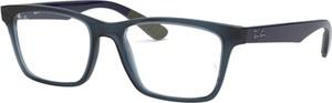 Granatowe okulary damskie Ray-Ban w stylu glamour