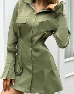 Zielona sukienka Kendallme mini z długim rękawem