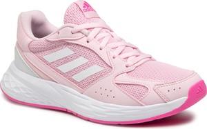 Buty sportowe Adidas z płaską podeszwą ze skóry ekologicznej