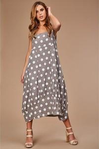 Sukienka 100% Lin z dekoltem w kształcie litery v z lnu