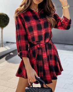 Sukienka Kendallme koszulowa z długim rękawem mini