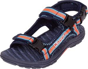 Granatowe buty dziecięce letnie Kappa dla chłopców na rzepy