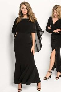 Czarna sukienka ORSAY z okrągłym dekoltem z dzianiny maxi