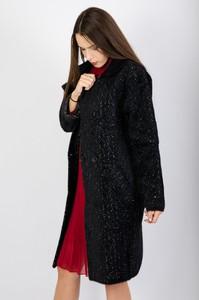 Czarny płaszcz Olika w stylu casual